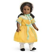 American Girl Cecile SUMMER OUTFIT retired hat dress boots yellow W1031 NO DOLL