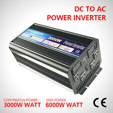6000W Max 3000W Power Inverter Modified Sine Wave DC 12V to AC240V D LED Display