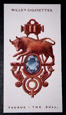 TAURUS  BULL  Zodiac Sign  Original 1920's Charm Card ## VGC