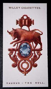 TAURUS  Zodiac Sign  Vintage Charm Card ## VGC CAT A