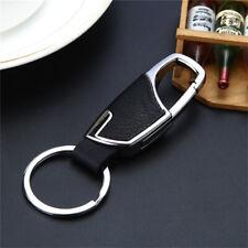 Keychain Key Chain Ring Keyfob Accessory Fashion Men's Metal Leather Car Keyring