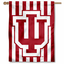 Indiana Hoosiers Candy Stripe Two Sided House Flag