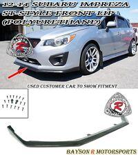ST-Style Front Lip (Urethane) Fits 12-14 Subaru Impreza Base 4/5dr