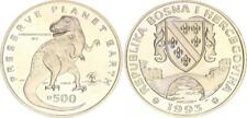 Bosnien-Herzegowina 500 Dinar 1993 Gedenkmünze - Dinosaurier - Tyrannosau 34784