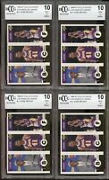 (4) 1996-97 Coll's Choice #L1 Kobe Bryant Rookie Card Lot BGS BCCG 10 Mint+