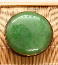 Vintage Style Gift Burma Green Color Jade Belt Buckle (JBB40)