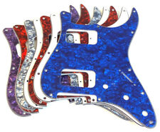 HH Pickguard, Strat Replacement Double Humbucker Guard, Clearance Color Choice