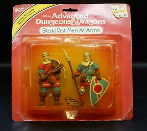 MOC 1982 tsr STEADFAST MEN AT ARMS Advanced Dungeons & Dragons PVC figures LJN !