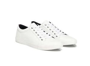 Tommy Hilfiger WEIß Herrenschuhe Sneaker Schuhe Freizeitschuhe XM0XM01293 YAF