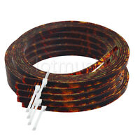 5*Celluloid Acoustic Guitar Binding Purfling Strip 5mm x 1.5mm Brown