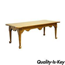 "Vintage Ethan Allen Heirloom 47"" Nutmeg Solid Maple Birch Coffee Table"