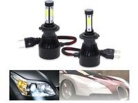 2x H7 400W 40000LM 6000K Lampade LED Coppia Auto Fari Lampadine Bianca Xenon HID