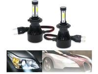 2x H7 LED 6000K 480W 48000LM Canbus Ampoule Voiture Feux Phare Lampe Xénon Blanc