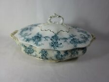 New Wharf Pottery COVERED OVAL BOWL CASSEROLE ELSIE Semi Porcelain England