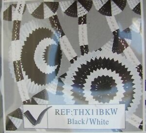 Black & White decoration pack 8 x Large garlands Flame retardant Party Funeral