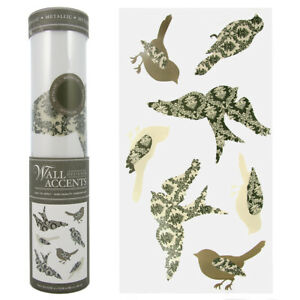Peel N' Stick Bird Wall Decals Accents Collage Prints Stickers Reusable Room Art