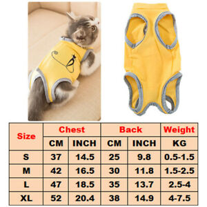 Pet Dog Cat Recovery Suit Unisex Cat Surgical Gown Weaning Suit After Surgery