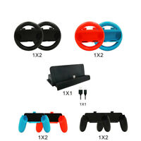 For Nintendo Switch Accessory Kits Sets 10 in 1 Joy Con Grips Handle Controller