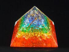 Large Chakra Layer Energy Orgone Pyramid