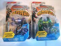 NEW Transformers Prime Beast Hunters Shockwave, Beast Blade Optimus Prime Figure