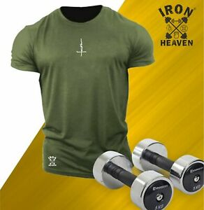 Faith T Shirt Small Gym Clothing Bodybuilding Training Workout Exercise Men Top
