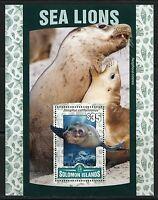 SOLOMON ISLANDS 2016 SEA LIONS  SOUVENIR  SHEET  MINT NH