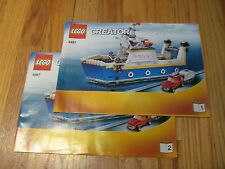 LEGO CREATOR # 4997 Transport Sea Ferry Airplane  Instruction Manual Only 1&2