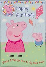 Peppa Pig - Feliz Cumpleaños Tarjeta y Insignia - Personajes Oficiales Tarjeta