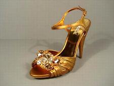 Miu Miu Prada 36/6 Silk Gold Gathered Leather Big Stones Platform Sandals Shoes