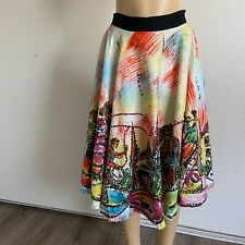 New listing kent women's hand painted Sequins mariachi print mexican skirt Size M