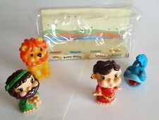 New listing Baby Bible Squeeze Toys, 1999, Daniel Lion Jonah Whale Big Fish, Kids Bath Play