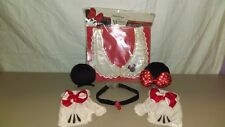 Minnie Mouse Costume Accesories Gloves, Ears and 2 Necklaces