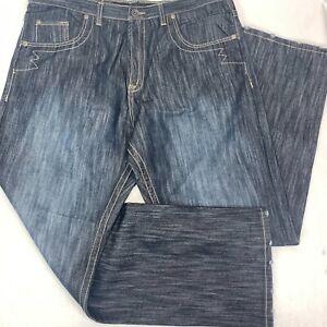 Brooklyn Xpress Mens Jeans 40 x 30 Blue Hip Hop Urban Distressed (39x33) NWT