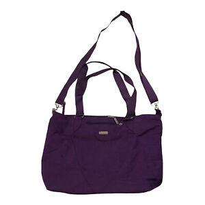 Bagginlini Shoulder Messenger Bag Purple Zip O3