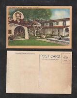1930s HOME OF MICKEY ROONEY ENCINO CALIFORNIA POSTCARD