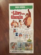 locandina,s31 Il libro della giungla The Jungle Book,1968,Mowgli Walt Disney,