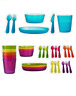 IKEA 36pcs Childrens Plastic Sets Cutlery / Cups / Plates / Bowls – Kids / Party