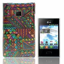 HardCase Backcover Schutzhülle für LG E400 Optimus L3 Aztec Tribal Design