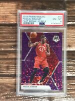 2019 Mosaic PASCAL SIAKAM #19 Purple Fast Break Prizm 24/50 Raptors PSA 8