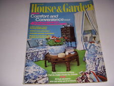 HOUSE & GARDEN Magazine, August, 1974, SPECIAL COMFORT AND CONVENIENCE ISSUE!