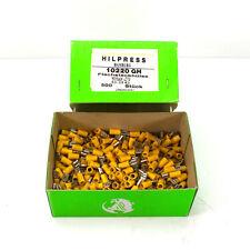 Hilpress Flachsteckhülsen Quetschverbinder Kabelschuhe Flachstecker gelb ca. 500