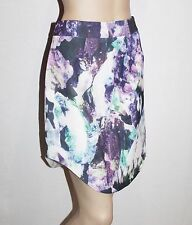 Luvalot Designer Purple Printed Curved Sides Day Skirt Size 12-M BNWT #ST92
