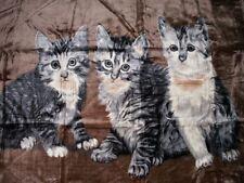 Tagesdecke Kuscheldecke Decke Plaid mit Katze Motiv (I)