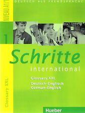 Hueber SCHRITTE INTERNATIONAL 1 Glossary XXL Niveau A1/1 German-English @NEW@