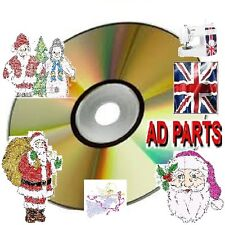 1000 EMBROIDERY XMAS CHRISTMAS DESIGNS CD / DVD BROTHER PES HUS
