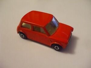 Matchbox Lesney Superfast #29 Racing Mini in orange-red, no labels, NMINT!