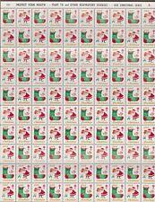Us 1964 Christmas Seals Full Sheet Mnh