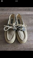 Sperry top sider Men Shoes Fabric Sz 8 Beige