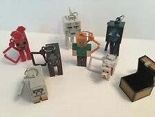 MineCraft Hanger 8 Piece Bundle- El_Coconuts, Chest, Ghast, Squid and Mob of 4