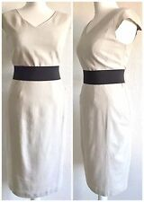 M&S Woman Natural Linen Blend Shift Dress Lined Size 12